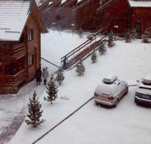 Буковель, перший сніг